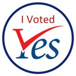 I voted Yes!